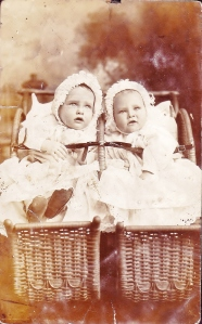 Two babies in carriages